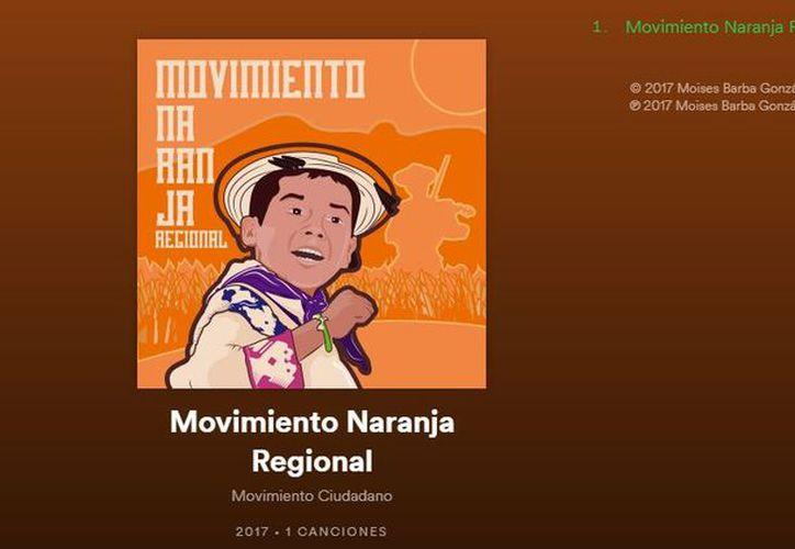 Movimiento Ciudadano dio a conocer en Twitter que su popular tema ya está en Spotify. (Foto: Captura)