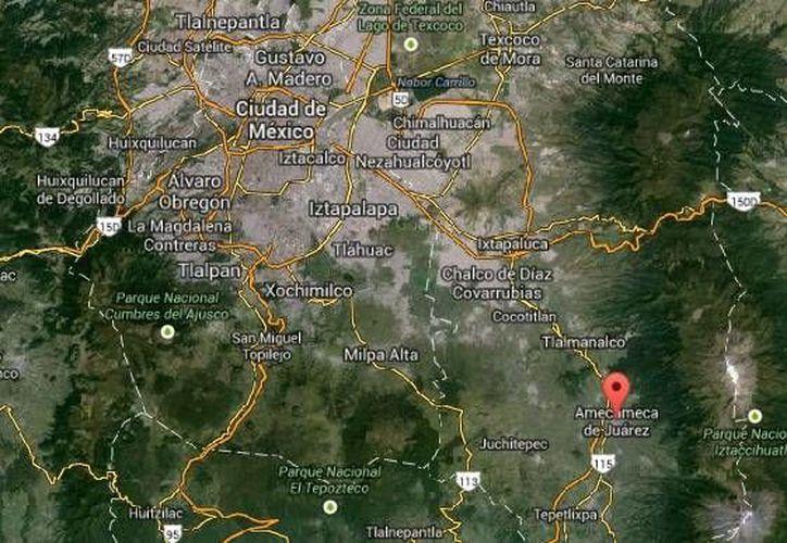 El excalcalde panista de Amecameca, Rosendo García Rodríguez, fue hallado con puñaladas y quemaduras en el 75 % de su cuerpo. (Google Maps)