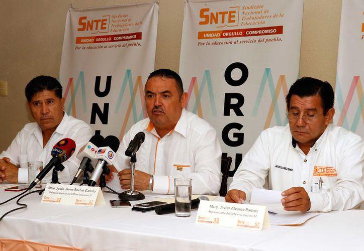 Representantes del Snte en Yucatán. (Foto: Archivo)