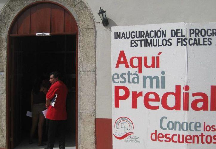 Se están otorgando descuentos del 25% en el pago del predial a quienes lo hagan durante este mes. (Javier Ortíz/ SIPSE)