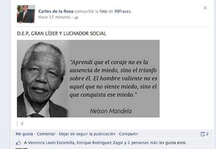 """Captura de pantalla que muestra la nota """"necrológica"""" del diputado. (Milenio.com)"""