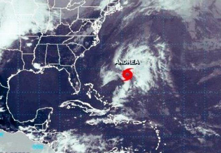 """Se formó la tormenta subtropical """"Andrea"""" pero por su trayectoria no representa un riesgo para Yucatán. (Foto: redes sociales)"""