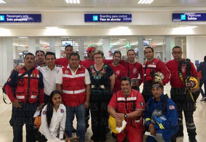 La brigada de Topos de Cancún va a la CDMX para brindar ayuda a víctimas del sismo de magnitud 7.1 grados. (Redacción/SIPSE).