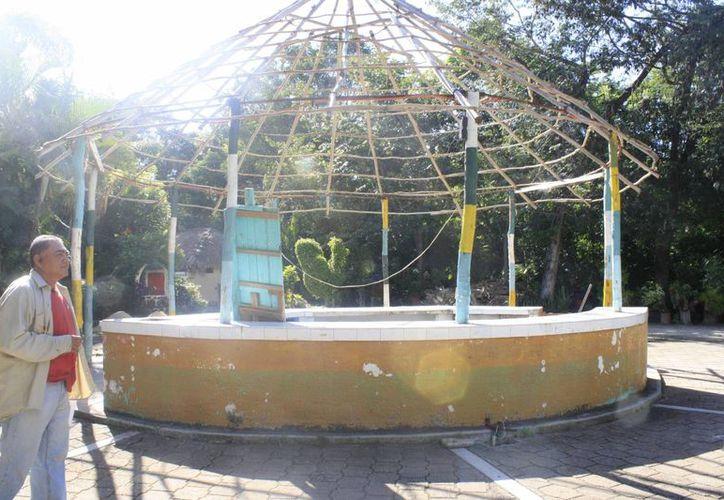 La palapa principal del parque será remodelada. (Harold Alcocer/SIPSE)