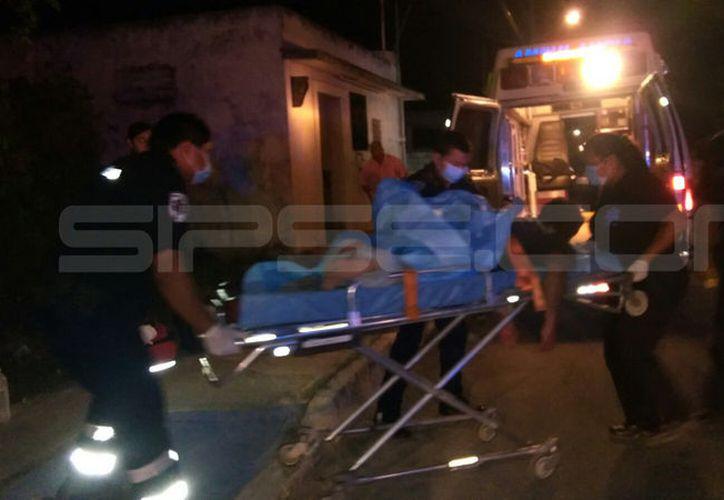 El hombre fue trasladado a un hospital de Motul. (SIPSE)