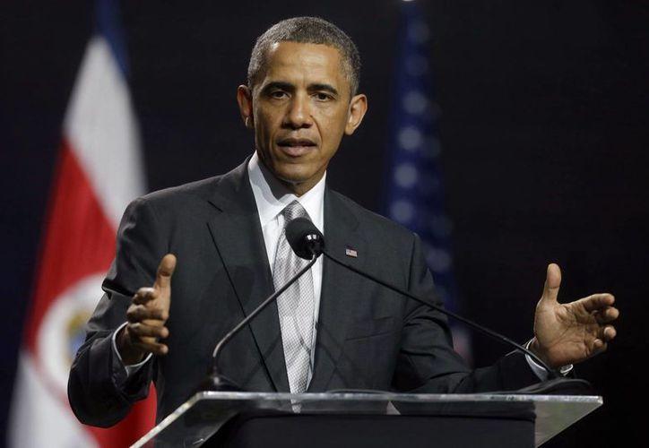 Obama durante una conferencia en Costa Rica, a donde llegó procedente de México. (Agencias)