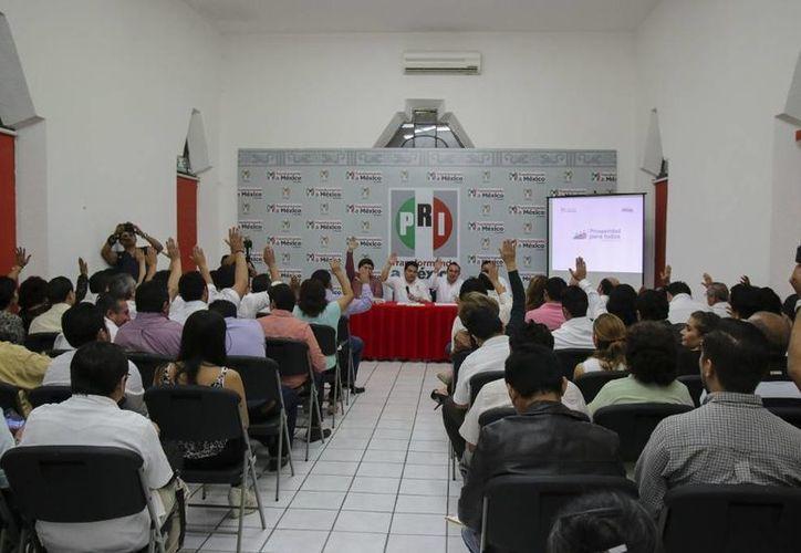 El PRI aprobó por unanimidad la plataforma electoral 2015-2018 que defenderán sus candidatos y candidatas. (SIPSE)