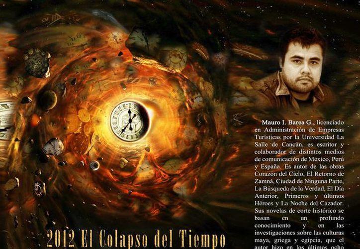 """""""El colapso del tiempo"""", editado en España, fue presentado ayer en el cierre de actividades de la feria. (www.revistapioneros.com/SIPSE)"""