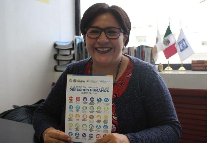 Fabiola Ballesteros Xicoténcatl señaló que se busca concientizar a la población de sus derechos. (Adrián Barreto/SIPSE)