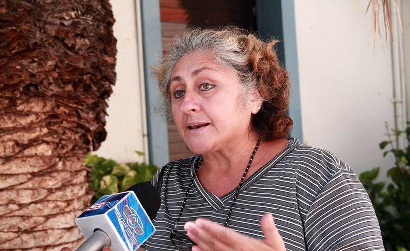 Silvana Munson Ordaz, entre las afectadas por la falta de servicio médico. (Jorge Acosta/Milenio Novedades)