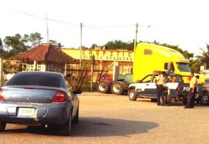 La Policía de Belice solicitó apoyo: dos patrullas arribaron con más de 12 agentes de seguridad. (Redacción/SIPSE)