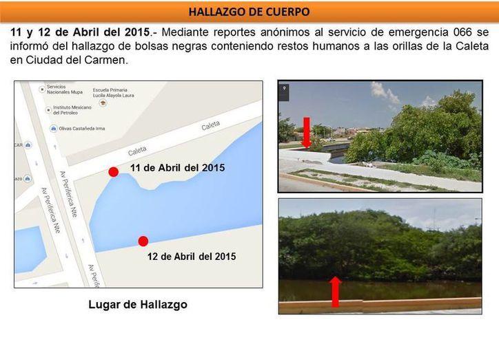 Las autoridades campechanas localizaron restos humanos los días 11 y 12 de abril tras denuncias ciudadanas. (Cortesía)