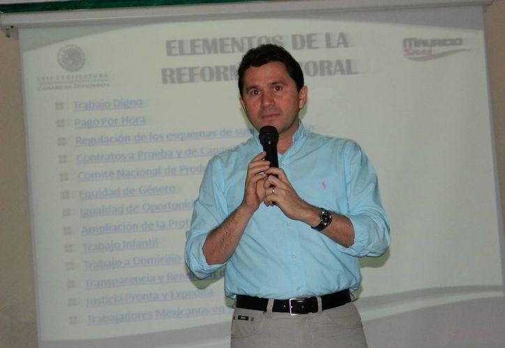 Sahuí Rivero confió en que este año se concrete el proyecto a la reforma energética. (SIPSE)