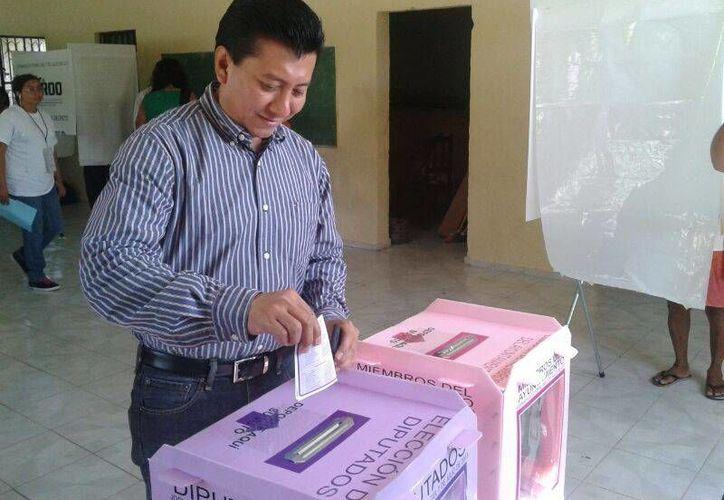 Jesús Pool Moo, candidato de la coalición PRI-PVEM-Panal por el Distrito XI. (Teresa Pérez/SIPSE)