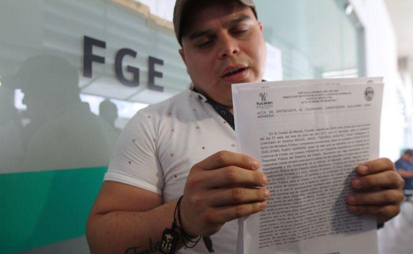 Christopher Guillermo Rubio Herrera, chofer de Jesús Pérez Ballote, presidente del PAN municipal en Mérida, echó de cabeza a su jefe: lo acuso de orquestar el daño a las calles recién pavimentadas.