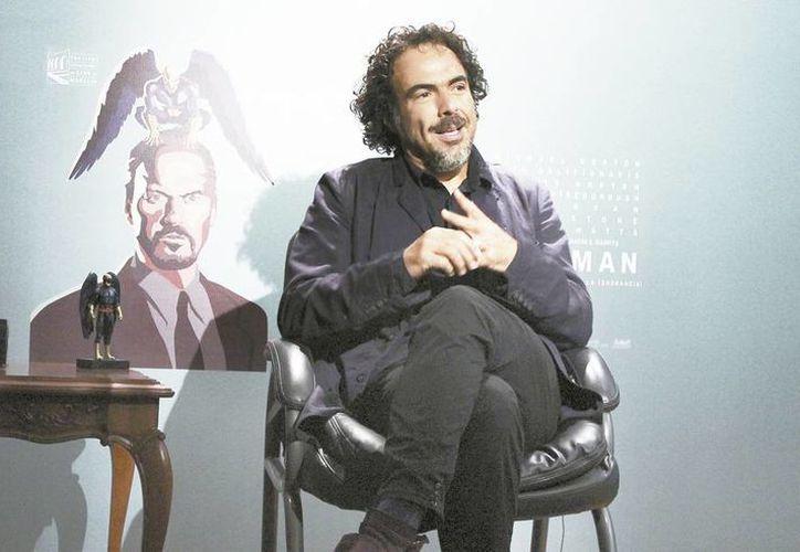 El realizador Alejandro Iñárritu, durante una entrevista en el Festival de Morelia. (Milenio)