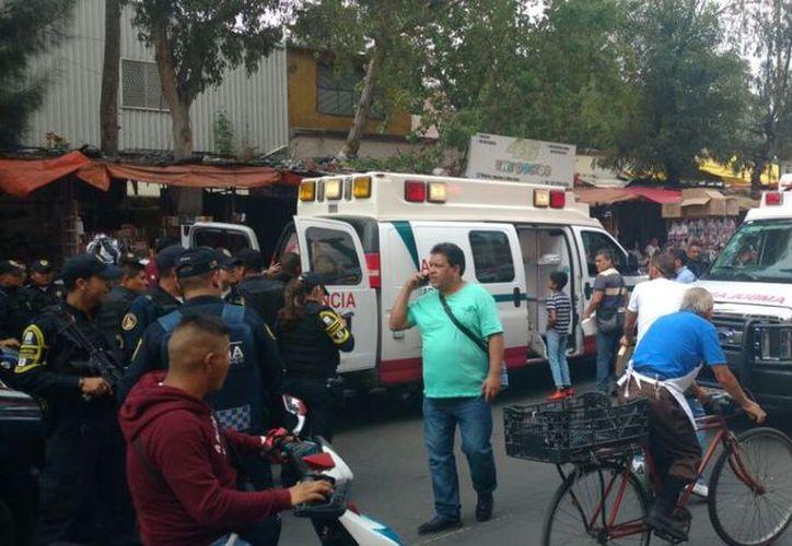 Esta tarde se registró un tiroteo en la calle de Tenochtitlán y Eje 1 Norte.  (@luismiguelbaraa)
