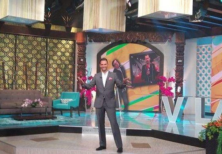 Patricio Borghetti debutó en el programa matutino de TV Azteca 'Venga la alegría', el pasado lunes.(Foto tomada de TV Azteca)