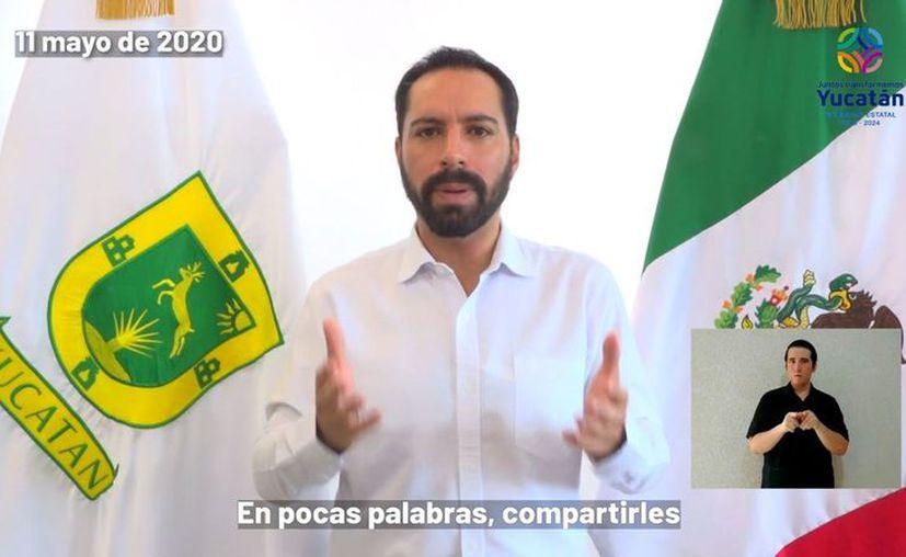 El Gobernador expuso que en Yucatán se ha disminuido el incremento de la curva. (Novedades Yucatán)