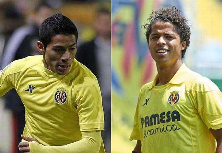 Se espera que Aquino (i) y Gio sean puntales en el avance del Villarreal.  (foxsportsla.com)