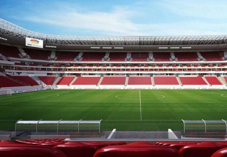 La 'Arena Pernambuco' de Recife tiene una capacidad de 42,583 espectadores. (contragolpe.mx)