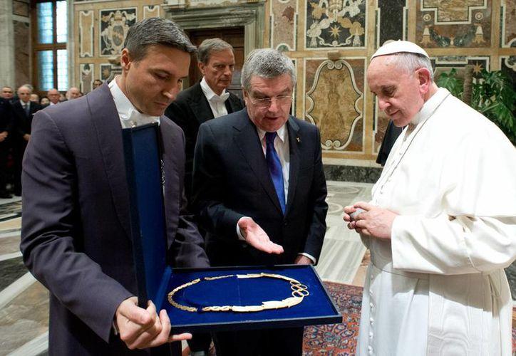 El papa Francisco bendijo a los atletas que competirán en los próximos Juegos Olímpicos. (Foto: Agencias)