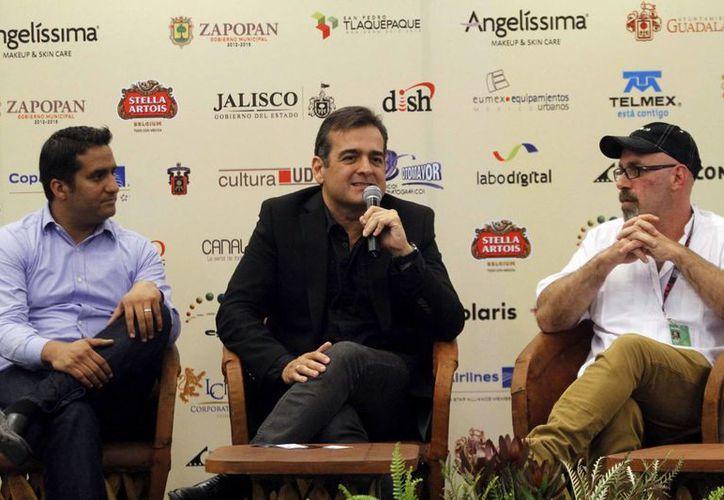 """El cineasta Sebastián del Amo señaló en conferencia de prensa en el FICG29 estar muy orgullosos de la cinta sobre """"Cantinflas"""". (Notimex)"""