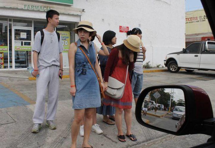 Los turistas japoneses realizan estancias de alrededor de siete noches. (Israel Leal/SIPSE)