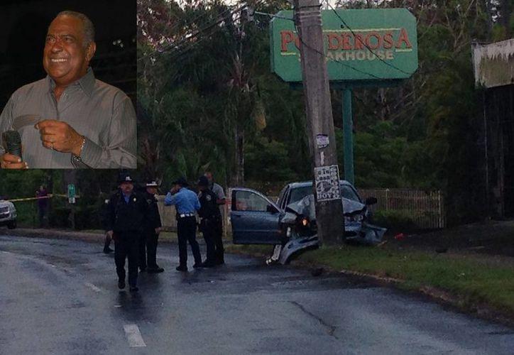 Cheo Feliciano (r) viajaba solo y sin el cinturón de seguridad puesto al momento del accidente. (Fotos: EFE/recuadro:asondesalsa.com)