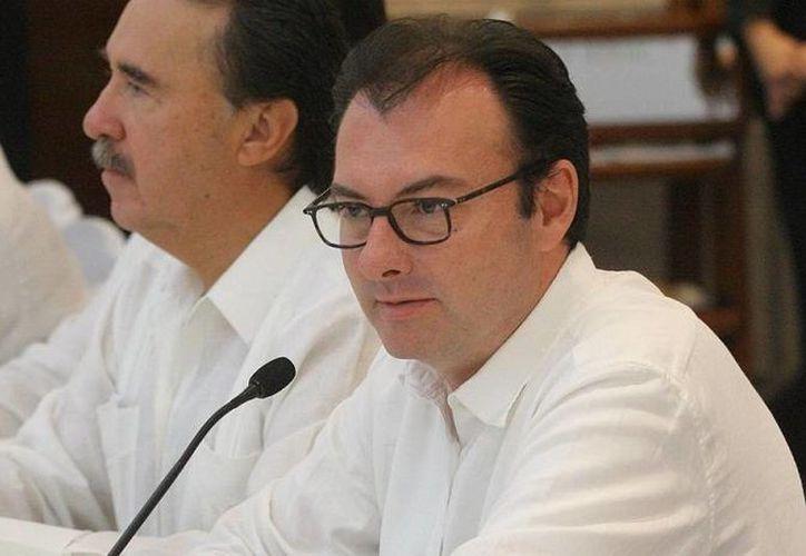 Luis Videgaray reconoció que la economía mexicana no está creciendo al ritmo que el gobierno quisiera ver, pero es un hecho que se está acelerando . (Notimex/Foto de archivo)