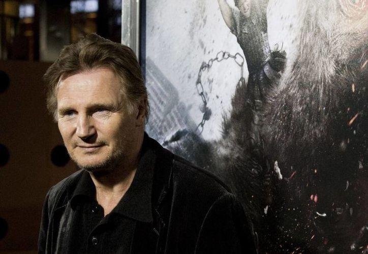 """Liam Neeson ha tenido mucho trabajo, pues filmó las cintas """"Non-Stop"""", y """"A Million Ways To Die In The West"""" y prestó su voz para el filme """"The Lego Movie"""". (Agencias)"""