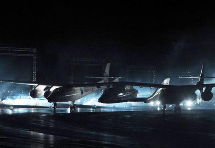 Imagen de la nave espacial SpaceShipTwo, accidentada el 31 de octubre de 2014 . (EFE/Archivo)