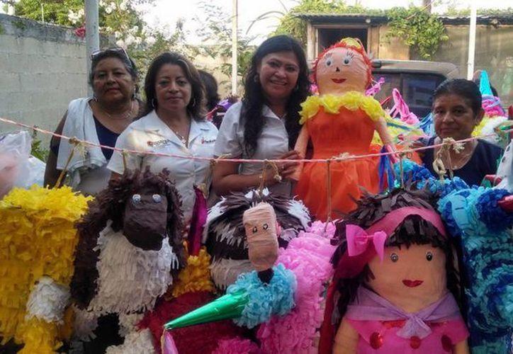 Se instruyó a las participantes en las ramas de estilismo y bienestar personal, corte de cabello, repostería, diseño y elaboración de piñatas, entre otros. (Redacción/SIPSE)