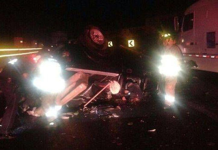 Un accidente que dejó dos muertos ocurrió en el kilómetro 31 de la autopista México-Cuernavaca . (Milenio)