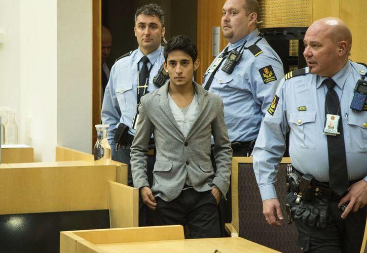 Adán Cortés Salas durante su comparecencia ante un tribunal en Oslo, Noruega. (EFE)