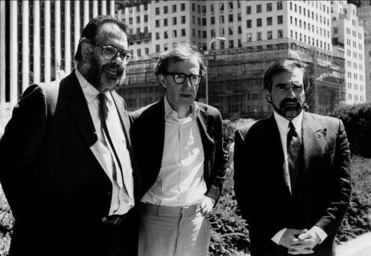 Francis Ford Coppola (i), quien en esta foto aparece con otros dos grandiosos cineastas, Woody Allen (c) y Martin Scorsese, recibió este viernes el Premio Princesa de Asturias de las Artes. (indiewire.com)