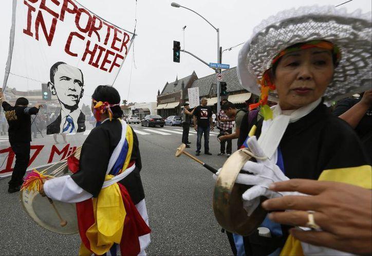 En el acto de este domingo participaron diversos grupos proinmigrantes en Estados Unidos. La imagen corresponde a un evento anterior. (SIPSE/Archivo)