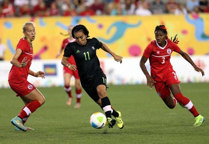 La Selección Mexicana femenil ganó 2-1 a Canadá y con ello ganó la medalla de bronce en los Juegos Panamericanos. (Notimex)