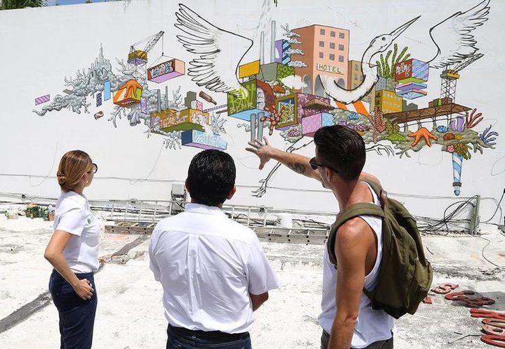 Los murales se llevarán a cabo hasta el 26 de julio en las avenidas principales de Cozumel. (Cortesía)