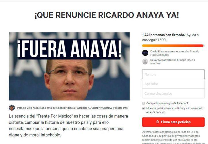 """La petición fue activada por un usuario llamado """"Pamela Vela"""". (Redacción/SIPSE)"""