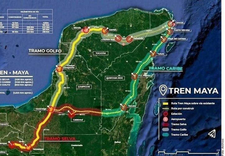 Inicialmente, el Tren Maya proyecta la instalación de una estación en el Municipio de Bacalar. (Agencia Reforma)