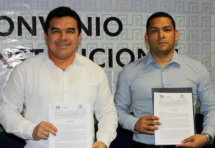 La alianza fue signada en presencia de alumnos del Itfcp, personal docente y administrativo. (Cortesía/UPB)