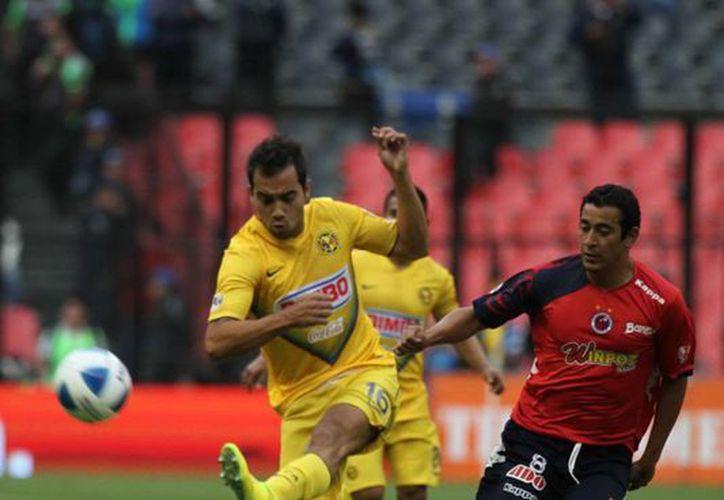 El América ligó esta tarde cuatro partidos sin ganar en el Estadio Azteca. (Notimex)