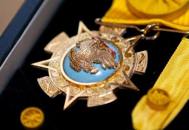 La Orden del Águila Azteca se otorga a los extranjeros que presten servicios destacados a la nación mexicana. (Archivo/SIPSE)