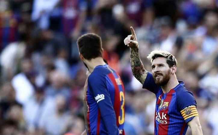 Con el triunfo, Barcelona sube al tercer lugar de la clasificación de la Liga con 16 unidades, dos menos que el Líder Atlético de Madrid.(Manu Fernandez/AP)