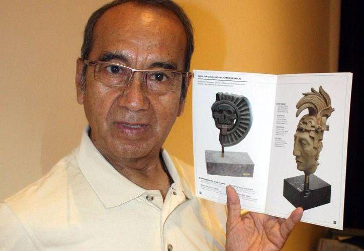 Juan Gómez Salazar ha dedicado gran parte de su obra a la escultura prehispánica. (Milenio Novedades)