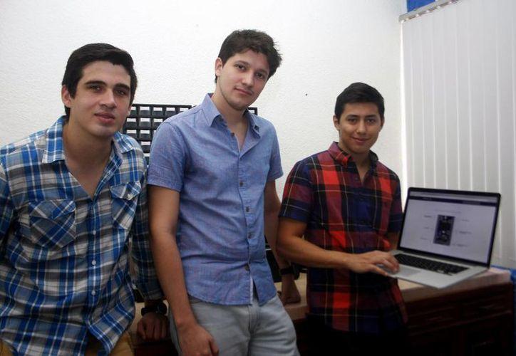Mario Javier Hevia Villajuana, Rodrigo Méndez Gamboa  y José Ramón Bracamonte Barahona fortalecen proyectos a través de su empresa Makerlab. (Milenio Novedades)