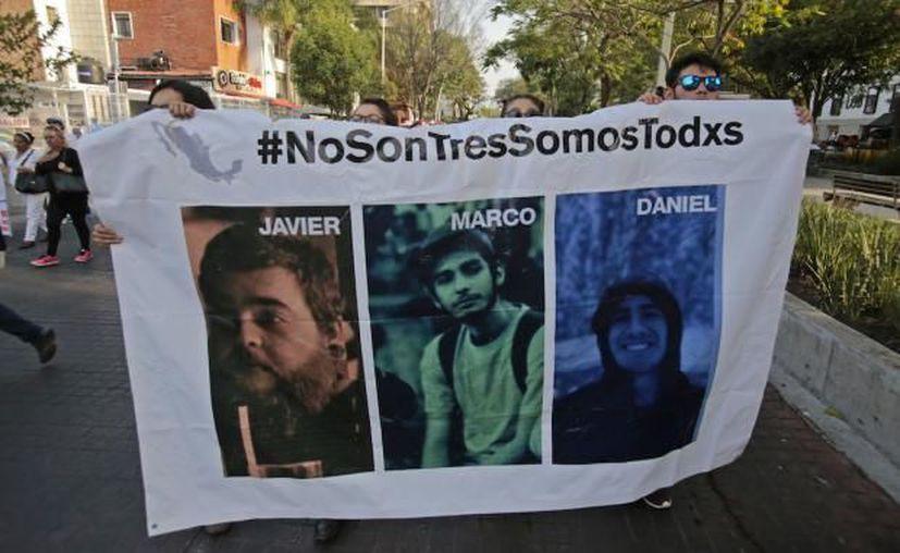 Desde la desaparición, en Guadalajara se han realizado manifestaciones para reclamar la aparición de estudiantes y otros desaparecidos. (Contexto/Internet)