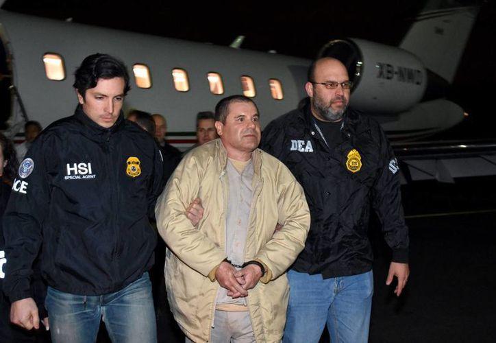 El Chapo fue extraditado a Estados Unidos para enfrentar diversos cargos. (U.S. law enforcement via AP)