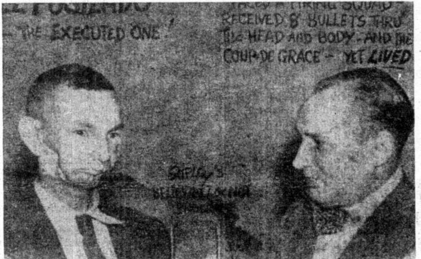 """Wenceslao Moguel, el fusilado de Halacho, y el famoso presentador Robert Ripley, creador de """"Aunque usted no lo crea""""! (Jorge Moreno/SIPSE)"""